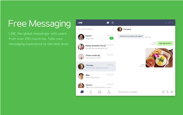 Line free messages