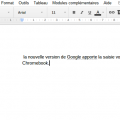 Saisie vocale DOCS sur Chromebook