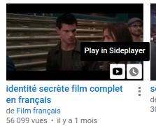 Sideplayer youtube